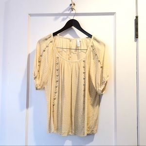 Pretty yellow top from Anthropologie by Sine - sz6